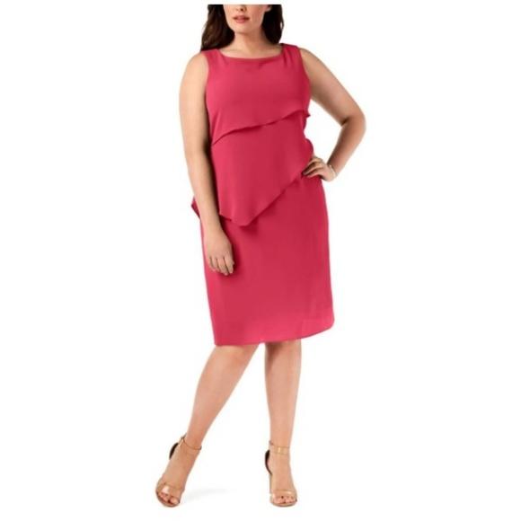 Jessica Howard Plus Size Tiered Shift Dress NWT